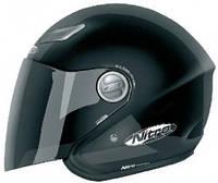 Черный открытый мотошлем с визором Nitro MIX TAPE SATIN размер S