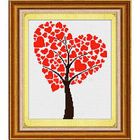 """Набор для рисования камнями (холст) """"Древо любви"""" LasKo"""