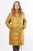 Женская зимняя горчичная куртка Даша  48-56 размеры