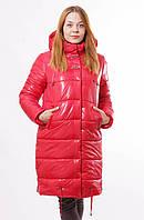 Женская зимняя красная куртка Даша  48-56 размеры