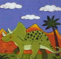 Набор для рисования 951003 Зеленый динозавр (25 х 25 см) 1 Вересня