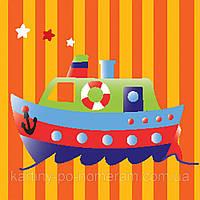 Картина раскраска 950385 Кораблик на полосатой воде (20 х 20 см) 1 Вересня