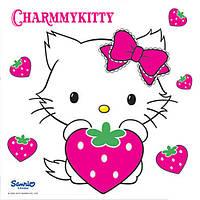 Картина раскраска 950938 Чарми Китти с клубничкой (20 х 20 см) 1 Вересня