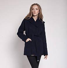 """Демисезонное женское пальто """"Силуэт"""" черный, 46"""