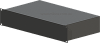 Корпус металлический RACK 2U, модель MBR-2U-256S; Габариты корпуса ШхВхГ: 483(430)х88х256