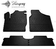 Резиновые коврики Stingray Стингрей Форд Галакси 1995- Комплект из 4-х ковриков Черный в салон