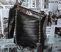 Сумка женская Moschino черная кожаная