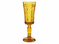 """Бокал для шампанского """"Королевский"""" 100 мл желтый 14-367"""