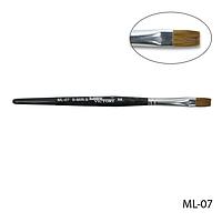 Кисть ML-07 - №8 для гелевого моделирования натуральная (соболь)