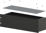 Корпус металевий Rack 3U, модель MB-3160S (Ш483(432) Г162 В132) чорний, RAL9005(Black textured), фото 3