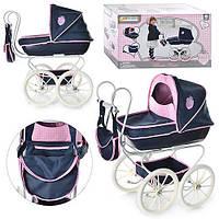 Детская коляска для куклы с люлькой в ретро стиле. Немецкий бренд.