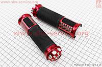 Качественные рукоятки руля  на мототехнику красные