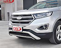 Ford Edge Передняя и задняя защиты V1 (2 шт)