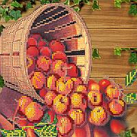 Схема для вышивки бисером на натуральном художественном холсте Яблочный Спас