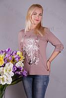 Блуза-туника трикотажная 428-осн807/2-63 полубатал оптом от производителя Украина