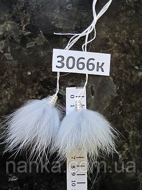 Меховые кисточки Енот, Св. Серый, 7 см, 3066к, фото 2