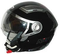 Открытый мотошлем с визором Nitro NP-100J DVS INSIGNIA Black