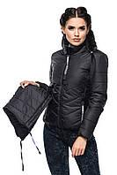 Короткая демисезонная куртка с каюшоном 42-54 размера