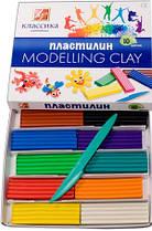 Пластилин Луч Классика 10 цветов со стеком картонный вкладыш 7С304-08
