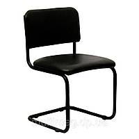 Посетительский стул Квест каркас чёрный/кз черный