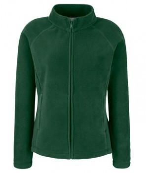 Женская флисовая кофта на молнии темно-зеленая 066-38