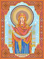 """Схема для вышивки иконы бисером на натуральном художественном холсте Икона """"Покров Пресвятой Богородицы"""""""