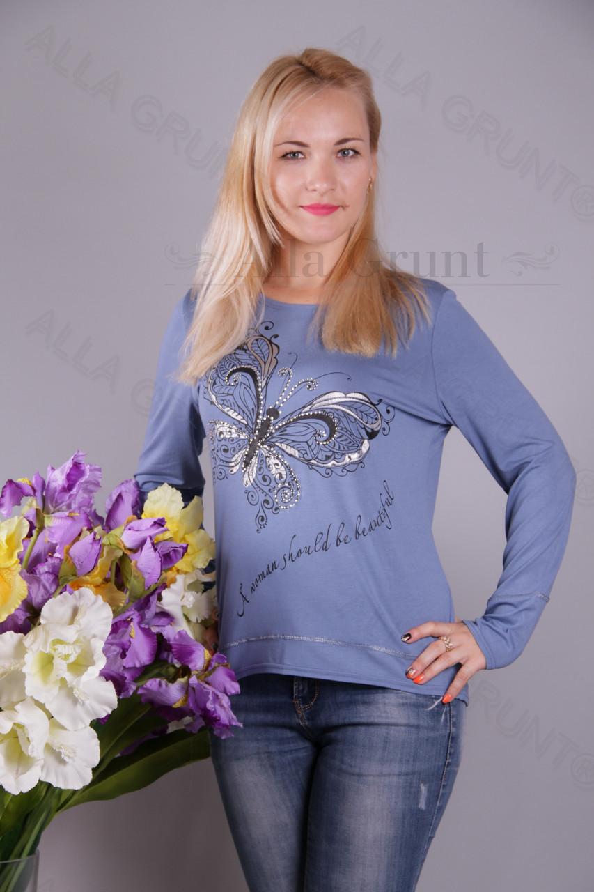 Блуза-туника трикотажная 439-осн805/1-113 полубатал оптом от производителя Украина