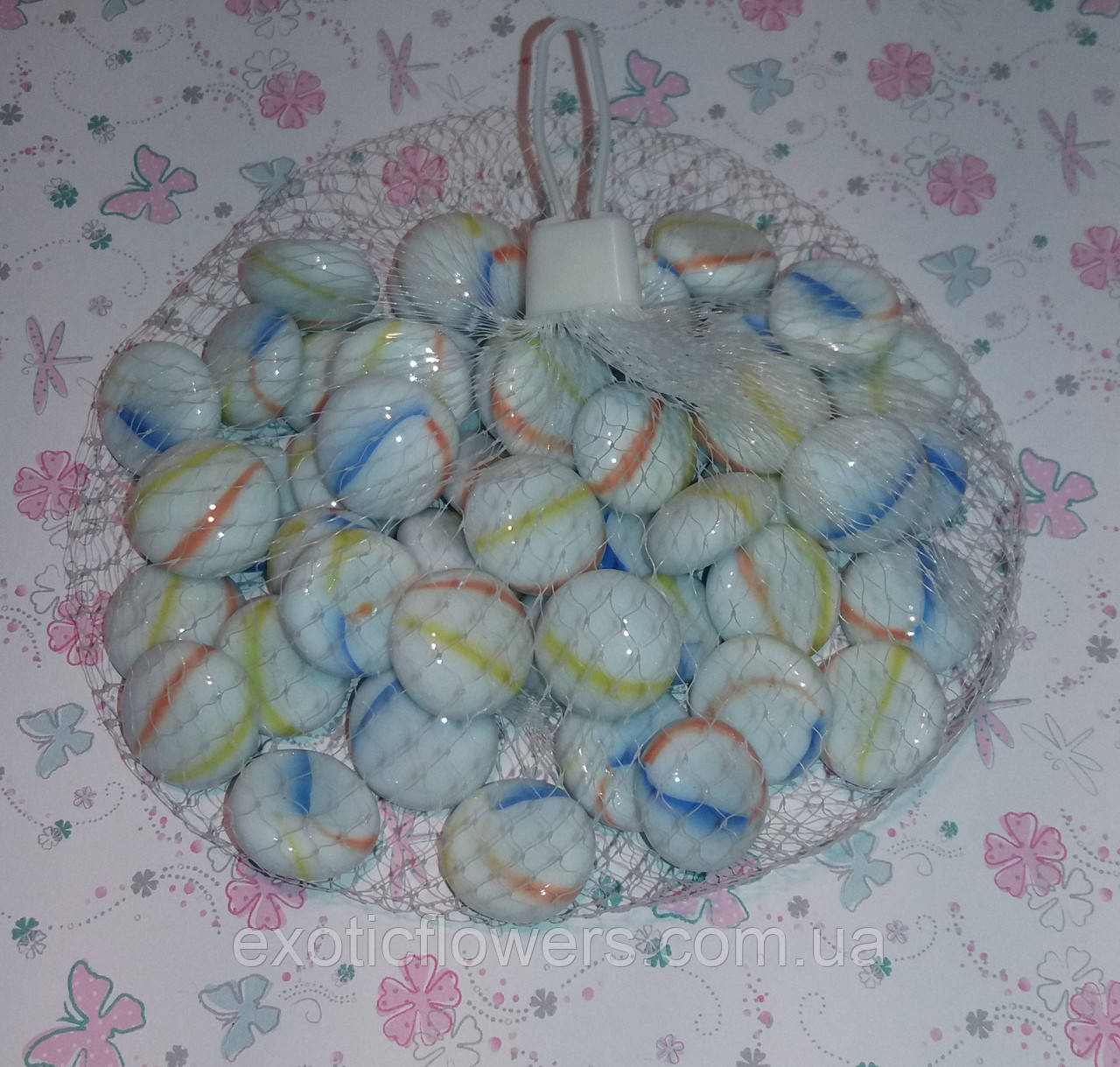 Декоративный стеклянный камень, Луиза - Интернет-магазин ExoticFlowers в Днепре