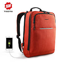 Рюкзак для ноутбука Tigernu-T-B3305 оранжевый с USB портом