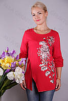 Блуза-туника трикотажная 424-осн810-155 полубатал оптом от производителя Украина
