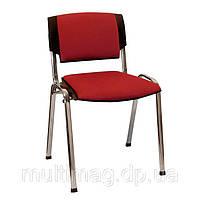 Посетительский стул Призма каркас хром/ткань А