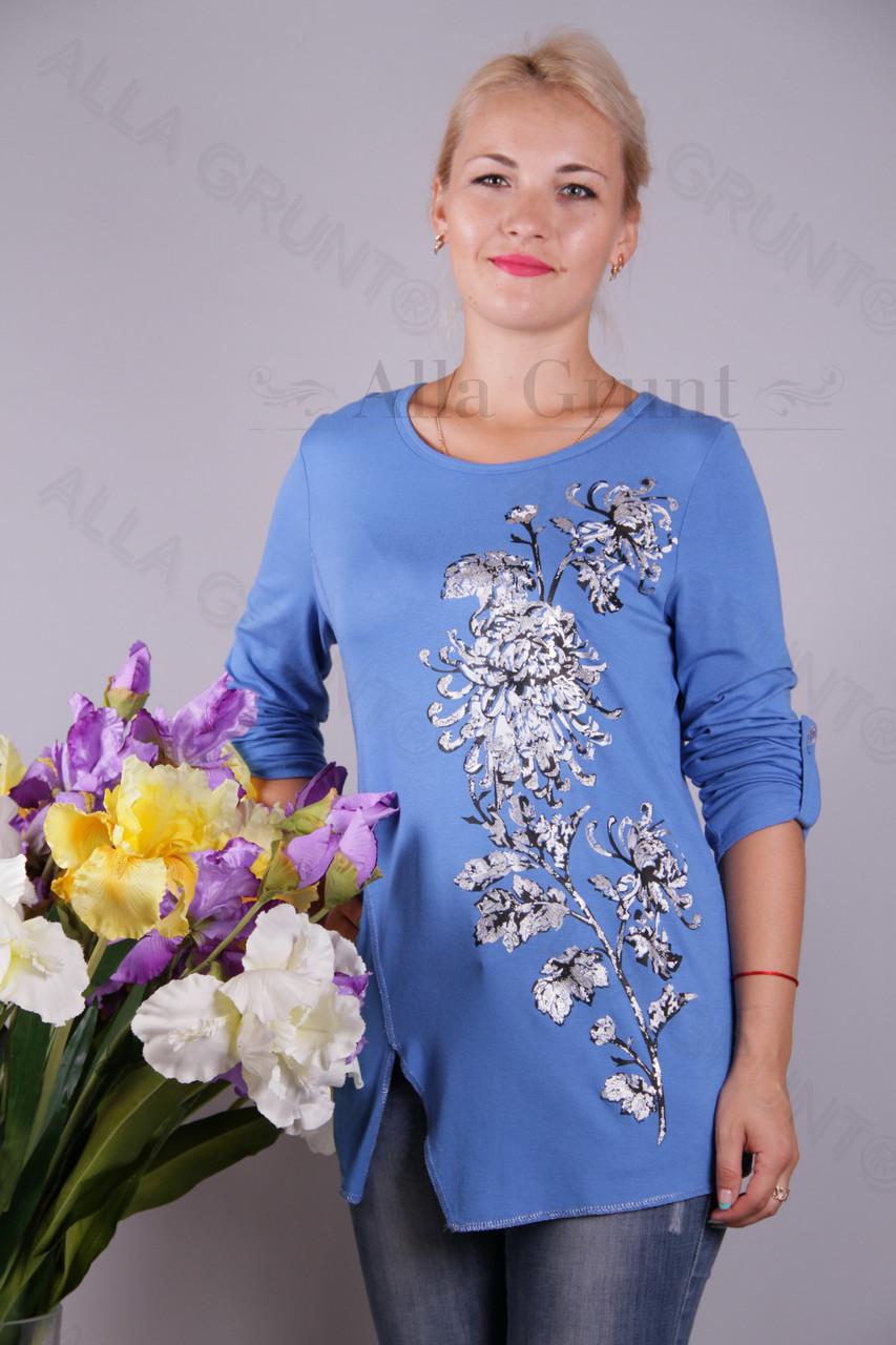 Блуза-туника трикотажная 425-осн810-155 полубатал оптом от производителя Украина