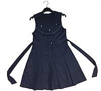 Школьный сарафан синий для девочки