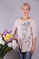 Блуза-туника трикотажная 401-осн810-155 полубатал оптом от производителя Украина