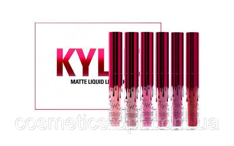 Комплект жидких матовых помад Kylie Matte Liquid Lipstick Mini: 6 color (реплика)