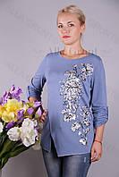 Блуза-туника трикотажная 439-осн810-155 полубатал оптом от производителя Украина
