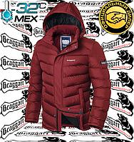 Мужская зимняя куртка с мехом Braggart Aggressive - 2683#2682 красный