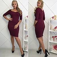 Платье большого размера с утяжкой ,Ткань: стрэйч джинс  Цвета: черный, хаки, малина, джинс, бордо впро№1047