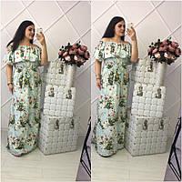 Женское платье в пол с цветами