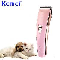 Машинка для стрижки животных длинношерстных Kemei 8202 сеть+аккумулятор