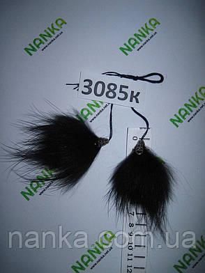 Меховые кисточки Енот, Серый Графит, 8 см, 3085к, фото 2