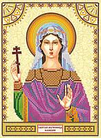 Схема для вышивки иконы бисером на натуральном художественном холсте Святая Клавдия