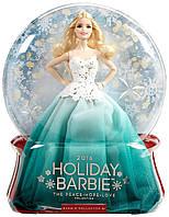 Кукла Barbie Праздничная 2016 в зеленом платьеКоллекционная куклаBarbie 2016 Holiday Doll