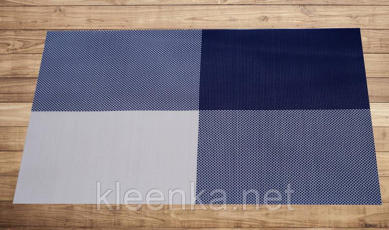 Салфетка подложка синяя на стол 30см*45см, фото 2