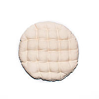 Подушка на Стул Стеганная Круглая Кедр на Ливане   37*37*5 Белый (11014738)