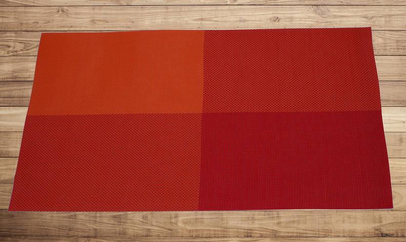 Салфетка для кухонного интерьера оранжевая с красным 30см*45см, серветка кухонна, фото 2