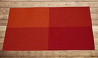 Салфетка для кухонного интерьера оранжевая с красным 30см*45см