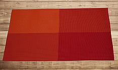 Салфетка для кухонного интерьера оранжевая с красным 30см*45см, серветка кухонна