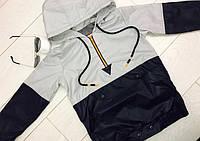 Ветровка детская оптом 98-128 черная с белым