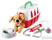 Игровой набор Ecoiffier Ветеринарная клиника с  переноской для щенка (001907)